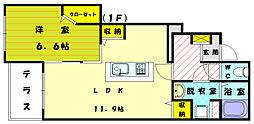 ガーデンクレールアベ[1階]の間取り