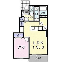 東京都東久留米市小山2丁目の賃貸アパートの間取り