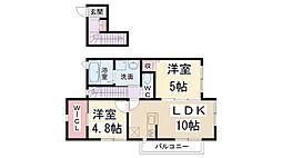 桜コートII[2階]の間取り
