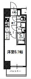 S-RESIDENCE南堀江 13階1Kの間取り
