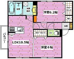 Droom相田4丁目[201号室]の間取り