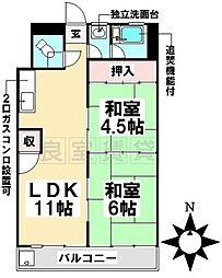 愛知県名古屋市瑞穂区中根町5丁目の賃貸マンションの間取り