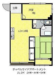 チャペルサイドアパートメント[2階]の間取り