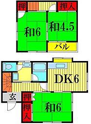 [一戸建] 埼玉県越谷市瓦曽根2丁目 の賃貸【/】の間取り