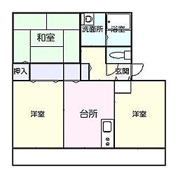 高知県高知市中秦泉寺の賃貸アパートの間取り