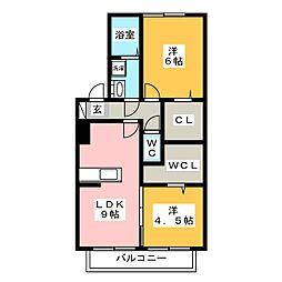 セジュール・アヴニール B棟[1階]の間取り