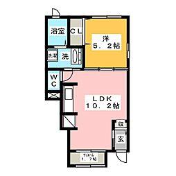 メゾン七番館[1階]の間取り