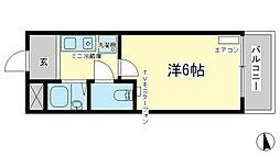 アートハイツ田寺[3階]の間取り