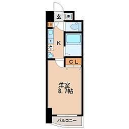 S-FORT宮町[6階]の間取り