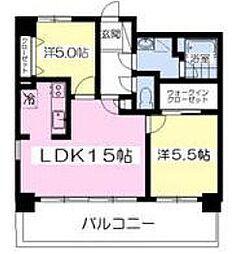 福岡県北九州市小倉南区徳力6丁目の賃貸マンションの間取り