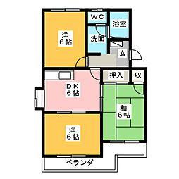 マンションロイヤルアイリス[5階]の間取り