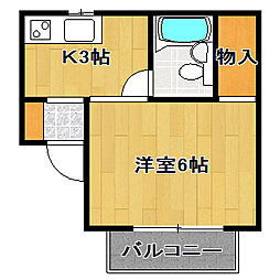 セジュール成島[2階]の間取り