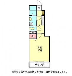 愛知県一宮市大和町毛受字一本松の賃貸アパートの間取り