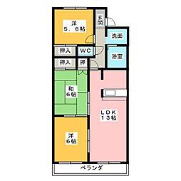 クレスト広田[1階]の間取り