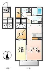 コーポラス港栄[2階]の間取り