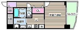 大阪府大阪市北区大淀中1丁目の賃貸マンションの間取り
