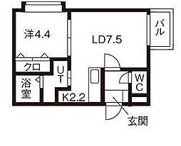 ブロッサ麻生[3階]の間取り