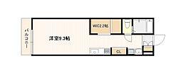 JR山陽本線 宮内串戸駅 徒歩18分の賃貸アパート 2階ワンルームの間取り