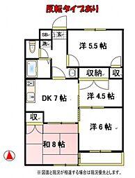 ファインクロス5番館[1階]の間取り