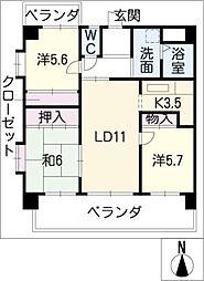 サニーコート春日井[2階]の間取り
