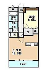 ラ・フォンテ野萩[2階]の間取り