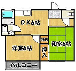 兵庫県明石市松江の賃貸アパートの間取り