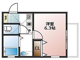 大物新築アパート[201号室]の間取り