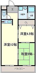 東栄マンション[3階]の間取り