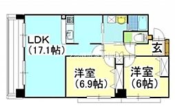 LAB La CORE 新屋敷[1階]の間取り
