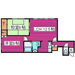 北海道札幌市東区北三十五条東13丁目の賃貸アパートの間取り