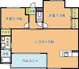 J5 Stage1(特定優良賃貸)[5階]の間取り