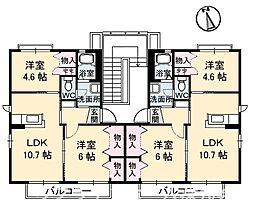 メゾン竹島 II棟[2階]の間取り