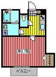 埼玉県川口市西青木5丁目の賃貸アパートの間取り