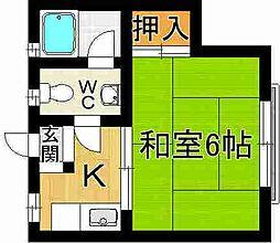 奈良県奈良市北市町の賃貸アパートの間取り