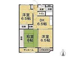 ユーミーマンション青山[202号室]の間取り
