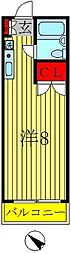 サンモール鈴木[2階]の間取り