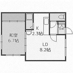 コーポ佐藤[2階]の間取り