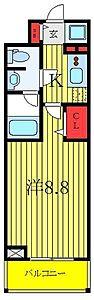 間取り,1K,面積25.25m2,賃料9.3万円,東京メトロ有楽町線 地下鉄赤塚駅 徒歩3分,東武東上線 下赤塚駅 徒歩6分,東京都板橋区赤塚新町3丁目3-4