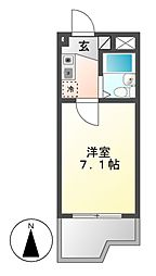 ドール堀田I[6階]の間取り