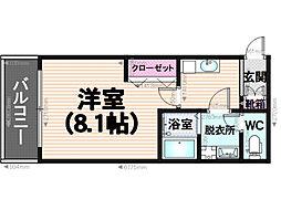 クレフラスト三宅[2階]の間取り
