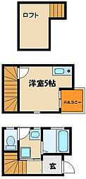 [テラスハウス] 兵庫県明石市鷹匠町 の賃貸【/】の間取り