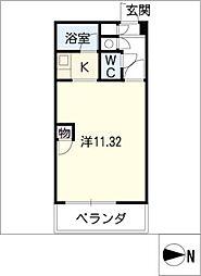 悠山荘[3階]の間取り
