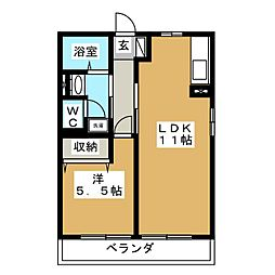 サンシャイン小泉[2階]の間取り