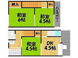 [テラスハウス] 大阪府四條畷市大字清瀧 の賃貸【/】の間取り