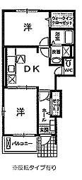 シャトーフレイズ[A102号室]の間取り