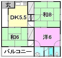 オレンジハウス余戸[2-2 号室号室]の間取り