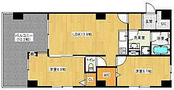 近鉄京都線 向島駅 徒歩13分の賃貸マンション 1階2LDKの間取り