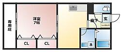 ラファールコート B棟[1階]の間取り