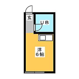 河合アパート[2階]の間取り