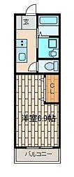 ことぶきコーポ(コトブキコーポ)[2階]の間取り